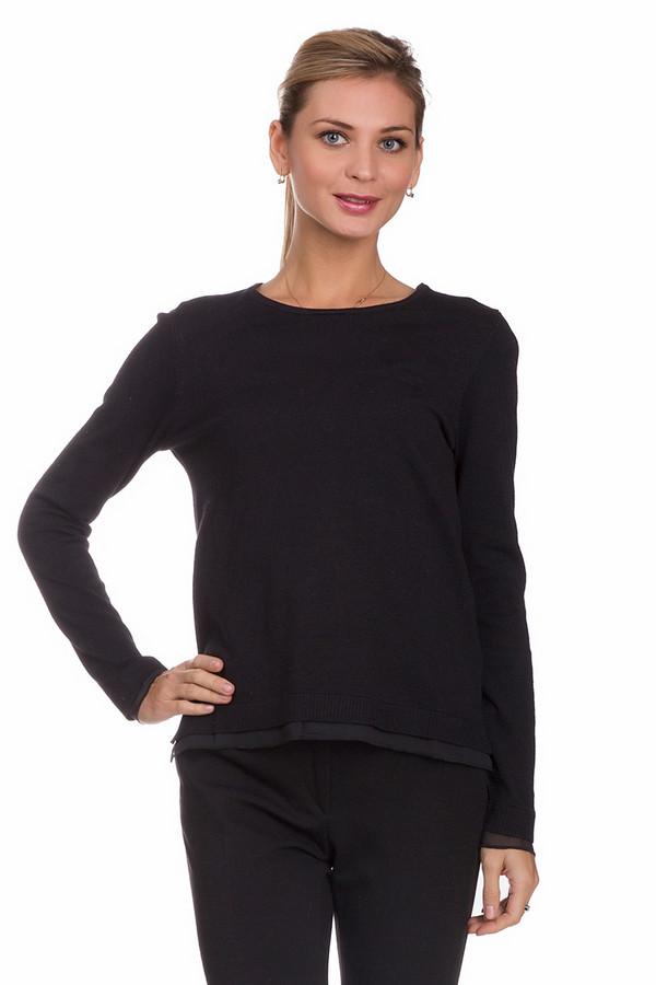 Пуловер PezzoПуловеры<br>Утонченный женский пуловер от бренда Pezzo черного цвета. Это изделие состоит из вискозы и полиамида. Данная модель предназначена для осени и весны. Пуловер немного облегает фигуру. Дополнен вставкой из полупрозрачной ткани снизу и на рукавах и разрезами по бокам. В сочетании с красивым украшением на шею подойдет для праздничного мероприятия.<br><br>Размер RU: 52<br>Пол: Женский<br>Возраст: Взрослый<br>Материал: полиамид 32%, вискоза 68%<br>Цвет: Чёрный
