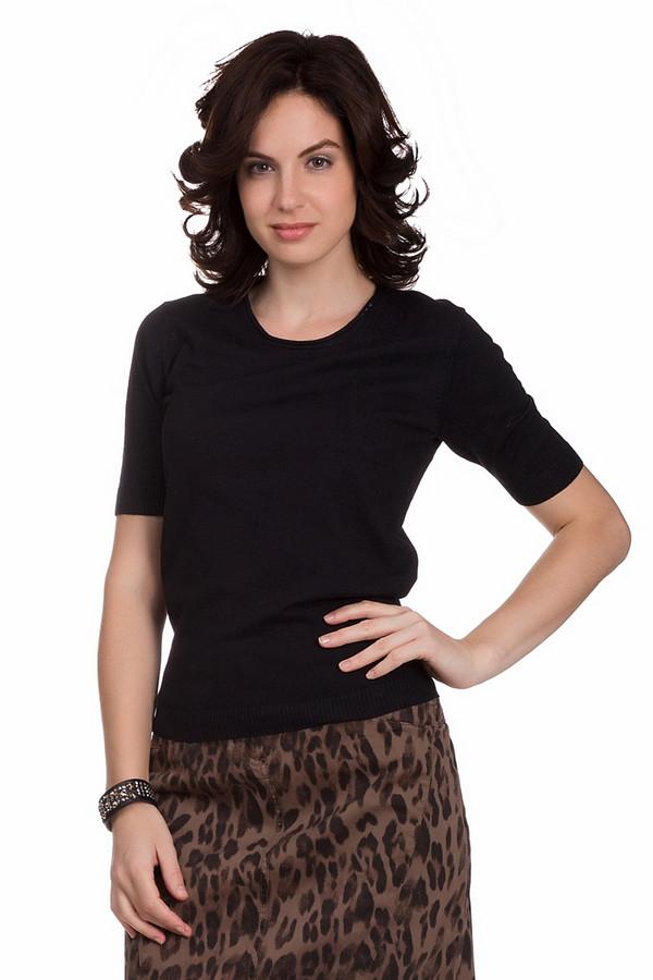 Пуловер PezzoПуловеры<br>Практичный женский пуловер от бренда Pezzo черного цвета. Эта модель была сделана из вискозы и полиамида. Такое изделие рассчитано на весну и осень. Пуловер свободного кроя. Рукава короткие. Можно сочетать с низом любого цвета и фасона. Эта вещь является универсальной. Подойдет для любого повода и мероприятия.<br><br>Размер RU: 46<br>Пол: Женский<br>Возраст: Взрослый<br>Материал: полиамид 32%, вискоза 68%<br>Цвет: Чёрный