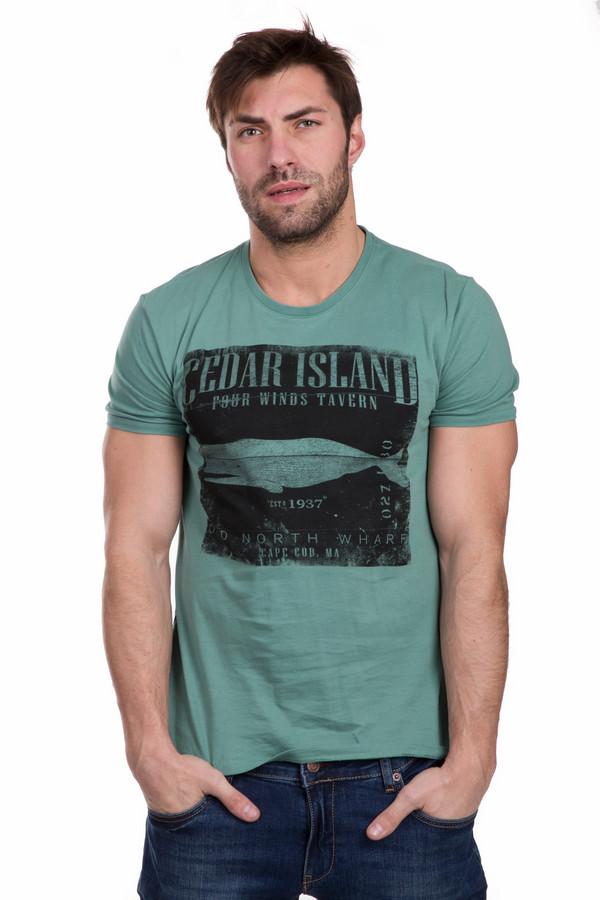 Футболкa s.OliverФутболки<br>Молодежная мужская футболкa s.Oliver зеленого цвета с черным принтом. Изделие содержит в себе только хлопок. Лучше всего подходит для носки в теплое время года. Футболка декорирована черным принтом, изображающим монохромного кита на черном фоне. Будет хорошо смотреться с джинсами различных фасонов.<br><br>Размер RU: 44-46<br>Пол: Мужской<br>Возраст: Взрослый<br>Материал: хлопок 100%<br>Цвет: Чёрный