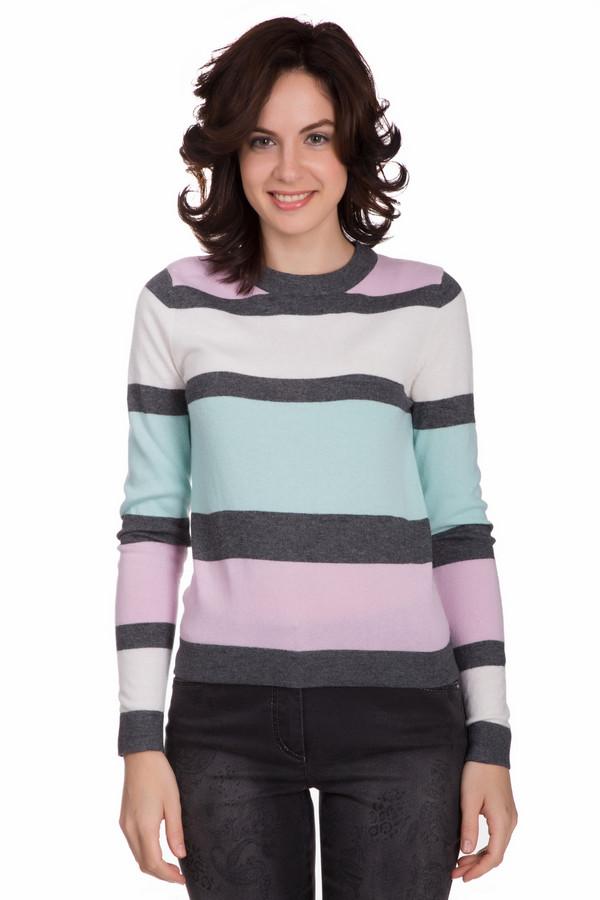 Пуловер PezzoПуловеры<br>Яркий женский пуловер от бренда Pezzo серого, белого, розового и голубого цветов. Данное изделие состоит из вискозы, полиамида, шерсти, хлопка и кашемира. Такая вещь рассчитана на осень и весну. Пуловер не облегает фигуру. Дополнен разноцветными горизонтальными полосами. Отличный вариант для того, чтобы разбавит серые будни в холодную пору.<br><br>Размер RU: 48<br>Пол: Женский<br>Возраст: Взрослый<br>Материал: вискоза 33%, полиамид 23%, шерсть 20%, хлопок 20%, кашемир 4%<br>Цвет: Разноцветный
