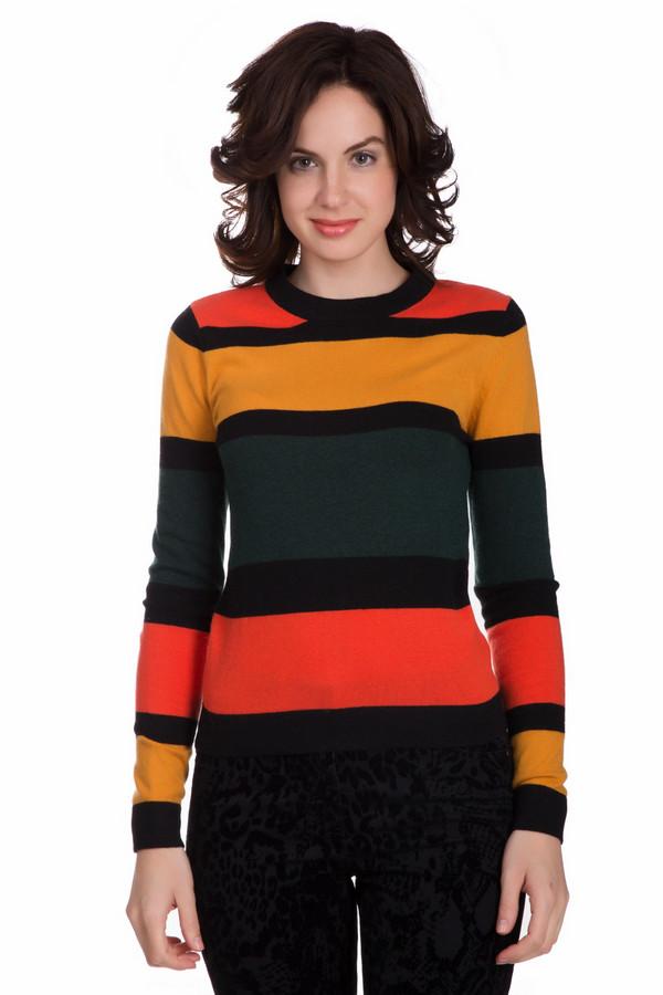 Пуловер PezzoПуловеры<br>Оригинальный женский пуловер от бренда Pezzo чёрного, оранжевого, жёлтого и зелёного цветов. Этот образец состоит из вискозы, полиамида, шерсти, хлопка и кашемира. Такая вещь рассчитана на осень и весну. Пуловер немного облегает фигуру. Украшен разноцветными горизонтальными полосами. Это стильное решение для холодной погоды.<br><br>Размер RU: 46<br>Пол: Женский<br>Возраст: Взрослый<br>Материал: вискоза 33%, полиамид 23%, шерсть 20%, хлопок 20%, кашемир 4%<br>Цвет: Разноцветный