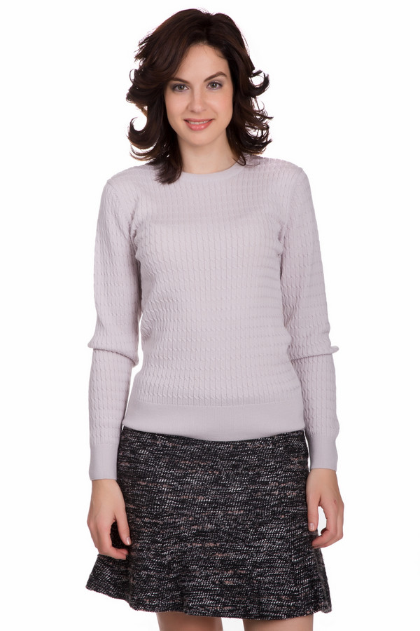 Пуловер PezzoПуловеры<br>Практичный женский пуловер от бренда Pezzo бледного бежевого цвета. Данное изделие состоит полностью из шерсти. Такая модель рассчитана на весну или осень. Пуловер немного облегает фигуру. Дополнен мелкими вязаными косичками. Универсальный вариант на каждый день. Можно сочетать с разнообразными украшениями на шею.<br><br>Размер RU: 48<br>Пол: Женский<br>Возраст: Взрослый<br>Материал: шерсть 100%<br>Цвет: Бежевый