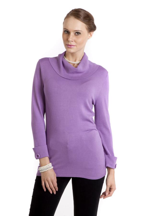 Пуловер PezzoПуловеры<br>Женственный пуловер Pezzo выполнен в сиреневом цвете. Изделие дополнено воротником-хомут и укороченными рукавами. Манжеты декорированы фурнитурой в цвет изделия.<br><br>Размер RU: 44<br>Пол: Женский<br>Возраст: Взрослый<br>Материал: вискоза 82%, нейлон 18%<br>Цвет: Сиреневый