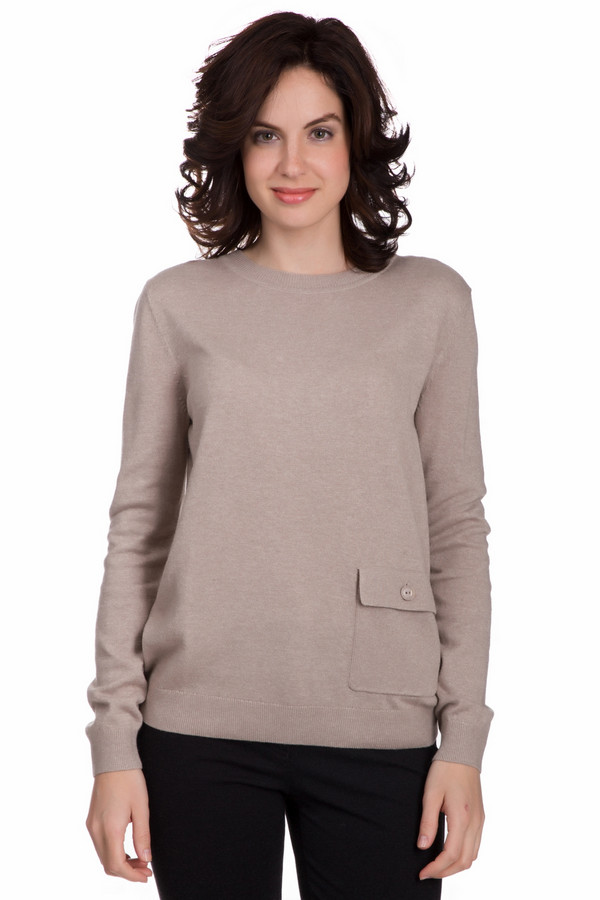 Пуловер PezzoПуловеры<br>Базовый женский пуловер от бренда Pezzo бежевого цвета. Этот образец состоит из вискозы, полиамида, хлопка, и шерсти кашемира. Такая вещь рассчитана на осенний и весенний сезоны. Пуловер не облегает фигуру. Дополнен большим карманом сбоку. Хороший вариант для работы и учебы. Подойдет тем кому нравятся светлые тона в одежде.<br><br>Размер RU: 54<br>Пол: Женский<br>Возраст: Взрослый<br>Материал: вискоза 33%, полиамид 23%, шерсть 20%, хлопок 20%, кашемир 4%<br>Цвет: Бежевый