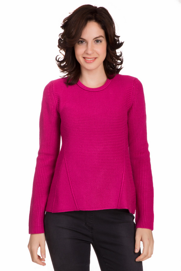 Пуловер PezzoПуловеры<br>Яркий женский пуловер от бренда Pezzo насыщенного розового цвета. Это изделие состоит из шерсти и акрила. Данная модель рассчитана на осень и весну. Пуловер свободного кроя. Дополнен интересным вязаными вставками. Такая вещь добавит в образ изюминку и подчеркнет достоинства фигуры. Это прекрасный вариант для праздничного мероприятия.<br><br>Размер RU: 46<br>Пол: Женский<br>Возраст: Взрослый<br>Материал: шерсть 50%, акрил 50%<br>Цвет: Розовый