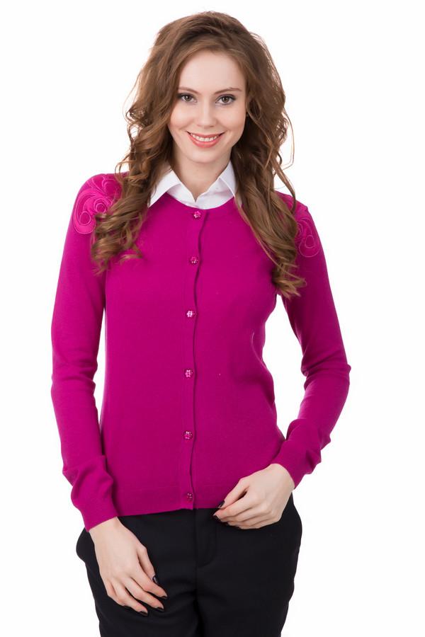 Жакет PezzoЖакеты<br>Женский кокетливый жакет Pezzo розового цвета. Изготовлен из вискозы, нейлона и шерсти. Подходит для весеннего и осеннего сезонов. Модель дополнена вышитыми узорами на плечах. Будет хорошо сочетаться с брюками, джинсами, юбками, водолазками, футболками, блузами. Универсальная вещь для создания женственного образа.<br><br>Размер RU: 52<br>Пол: Женский<br>Возраст: Взрослый<br>Материал: вискоза 46%, шерсть 19%, нейлон 35%<br>Цвет: Розовый