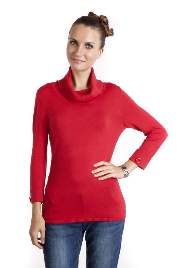 Пуловер PezzoПуловеры<br>Женственный пуловер Pezzo выполнен в роскошном красном цвете. Изделие дополнено воротником-хомут и укороченными рукавами. Манжеты декорированы фурнитурой в цвет изделия.<br><br>Размер RU: 48<br>Пол: Женский<br>Возраст: Взрослый<br>Материал: вискоза 82%, нейлон 18%<br>Цвет: Красный