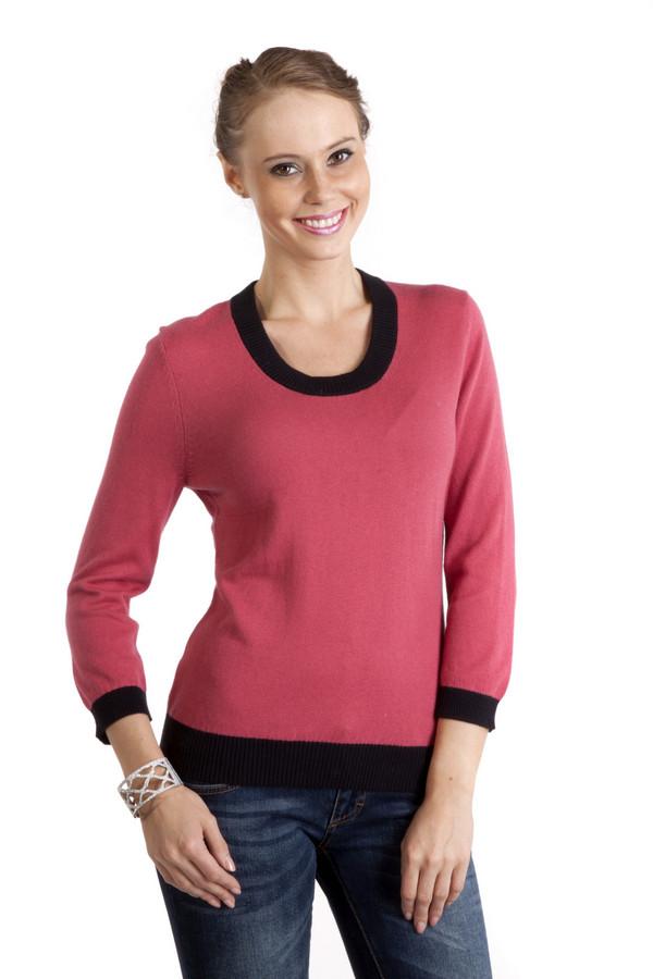 Пуловер PezzoПуловеры<br>Яркий женский пуловер Pezzo приталенного кроя. Изделие дополнено круглым вырезом и укороченными рукавами. Ворот, манжеты и нижний кант оформлены черной трикотажной резинкой.<br><br>Размер RU: 44<br>Пол: Женский<br>Возраст: Взрослый<br>Материал: хлопок 95%, кашемир 5%<br>Цвет: Чёрный
