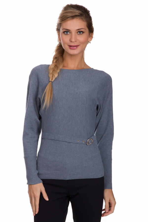 Пуловер PezzoПуловеры<br>Практичный женский пуловер от бренда Pezzo серого цвета. Это изделие состоит из вискозы, шерсти и нейлона. Пуловер облегает фигуру. Украшен пояском на талии. Рукава в плечах объемные. Это смотрится необычно и стильно. Такая вещь придаст повседневному образу оригинальности и при этом будет практичной.<br><br>Размер RU: 48<br>Пол: Женский<br>Возраст: Взрослый<br>Материал: вискоза 46%, шерсть 19%, нейлон 35%<br>Цвет: Серый