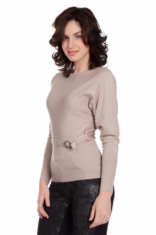 Пуловер PezzoПуловеры<br>Универсальный женский пуловер от бренда Pezzo бежевого цвета. Данное изделие состоит из вискозы, нейлона и шерсти. Такая модель рассчитана на осень и весну. Пуловер облегает фигуру. Дополнен широким поясом на талии. Рукава выполнены в форме летучей мыши. Подойдет для тех кому по душе простые цветовые решения в одежде.<br><br>Размер RU: 52<br>Пол: Женский<br>Возраст: Взрослый<br>Материал: вискоза 46%, шерсть 19%, нейлон 35%<br>Цвет: Бежевый