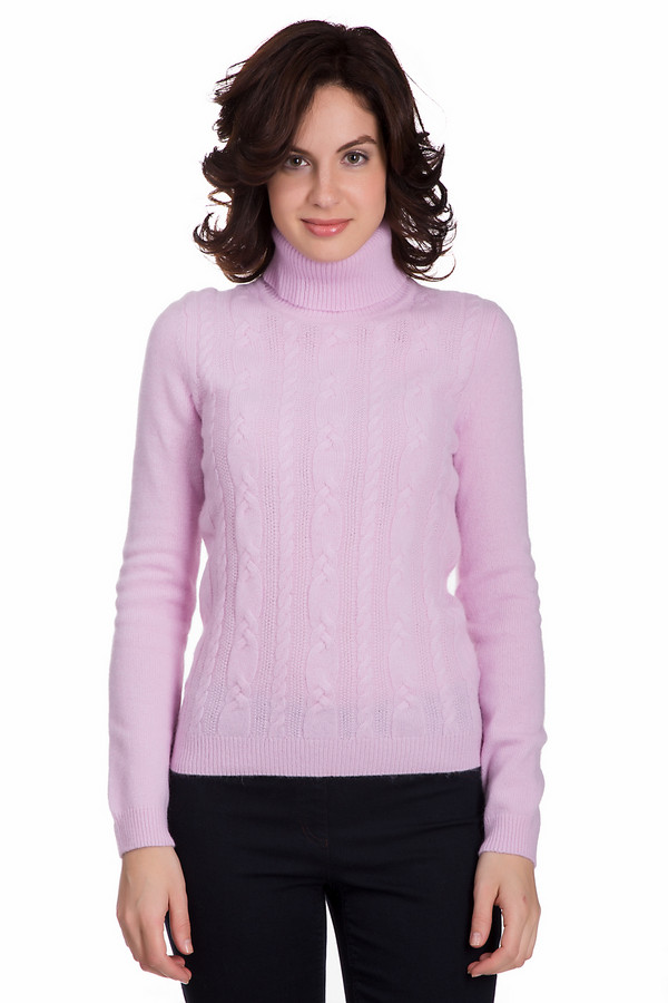 Водолазка PezzoВодолазки<br>Нежная женская водолазка от бренда Pezzo светло-розового цвета. Данное изделие состоит из шерсти, ангоры и полиамида. Такая модель рассчитана на зимний сезон. Водолазка дополнена вязанными вертикальными косами. Ворот прикрывает шею. Подойдет тем кому нравятся светлые цвета. Добавит повседневному образу романтичности.<br><br>Размер RU: 48<br>Пол: Женский<br>Возраст: Взрослый<br>Материал: шерсть 70%, полиамид 10%, ангора 20%<br>Цвет: Розовый