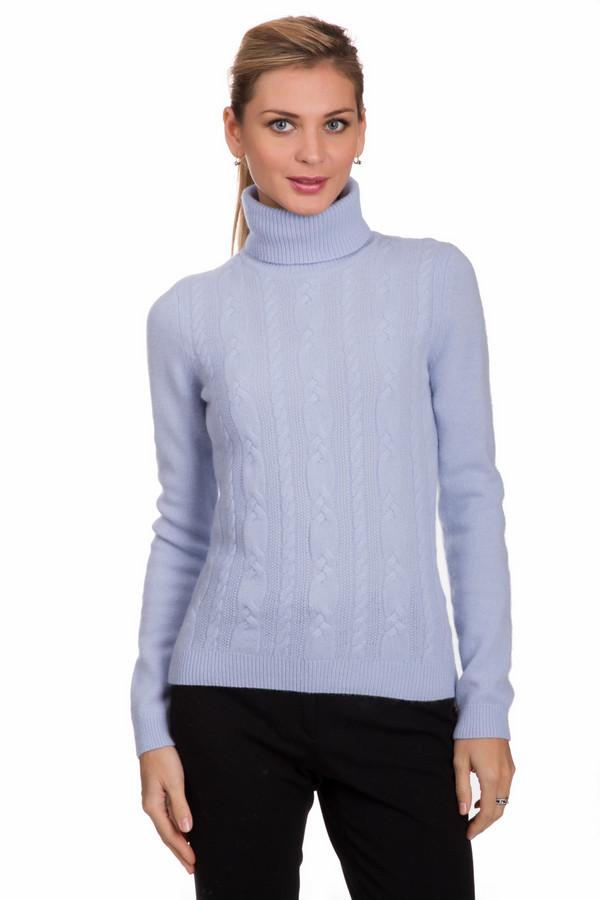 Водолазка PezzoВодолазки<br>Модная женская водолазка от бренда Pezzo голубого цвета. Данное изделие изготовлено из шерсти, ангоры и полиамида. Такая модель рассчитана на зимний сезон. Водолазка дополнена вязанными вертикальными косами. Ворот прикрывает шею. Цвет этой вещи добавит нежности в повседневный скучный образ. Лучшее решение для холодной погоды.<br><br>Размер RU: 46<br>Пол: Женский<br>Возраст: Взрослый<br>Материал: шерсть 70%, полиамид 10%, ангора 20%<br>Цвет: Голубой