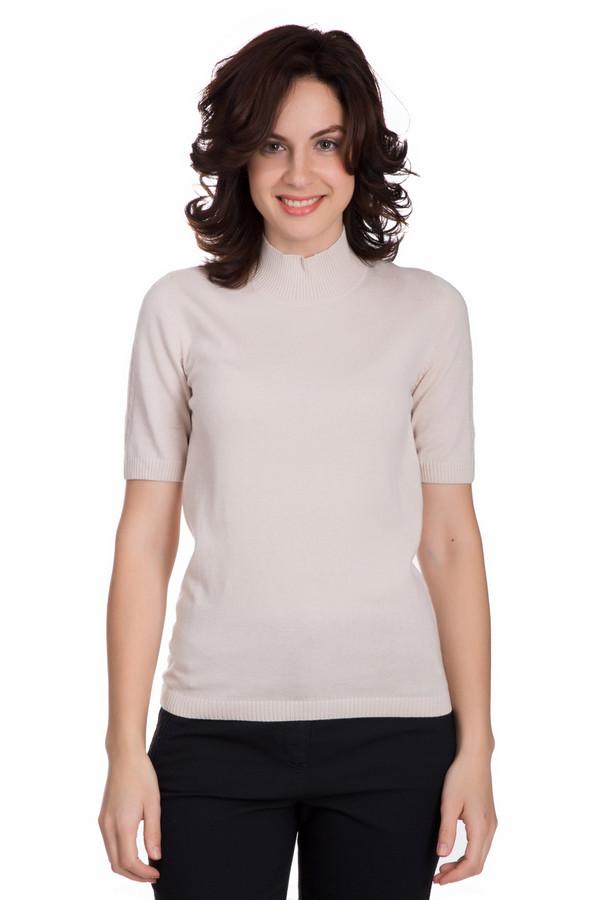 Пуловер PezzoПуловеры<br>Модный женский пуловер от бренда Pezzo бежевого цвета. Данный образец изготовлен из вискозы, полиамида, шерсти, хлопка и кашемира. Эта вещь рассчитана на осенний и весенний сезоны. Пуловер облегает фигуру. Подчеркивает ее достоинства. Ворот закрывает шею. Рукава сильно укороченные. Украшены вертикальными вязанными косичками. Прекрасное дополнит любой образ.<br><br>Размер RU: 48<br>Пол: Женский<br>Возраст: Взрослый<br>Материал: вискоза 33%, полиамид 23%, шерсть 20%, хлопок 20%, кашемир 4%<br>Цвет: Бежевый