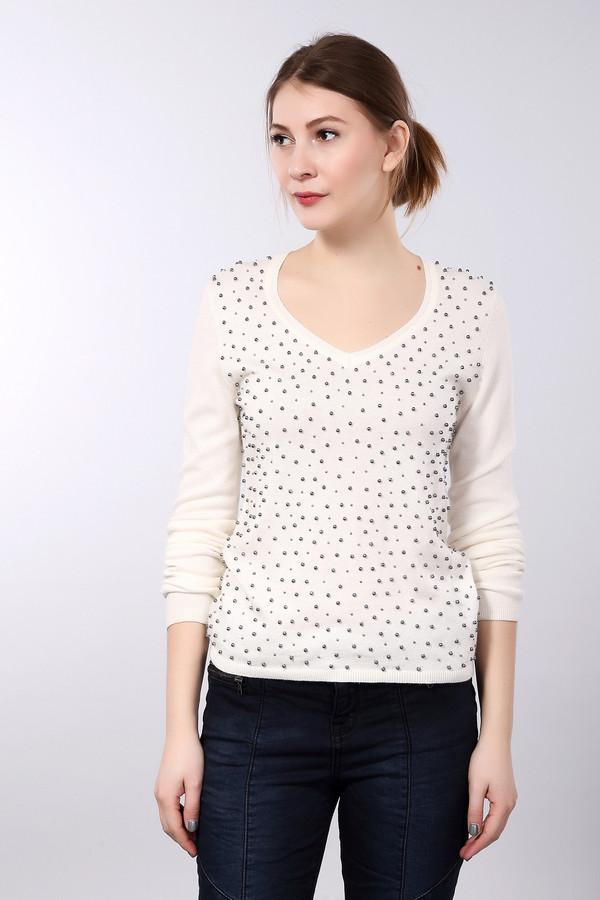 Пуловер PezzoПуловеры<br>Белый женский пуловер Pezzo приталенного кроя. Изделие дополнено: v-образным вырезом и длинными рукавами. Пуловер декорирован множеством бусин темно-серого цвета.<br><br>Размер RU: 44<br>Пол: Женский<br>Возраст: Взрослый<br>Материал: полиэстер 30%, нейлон 20%, шерсть 5%, вискоза 40%, ангора 5%<br>Цвет: Белый