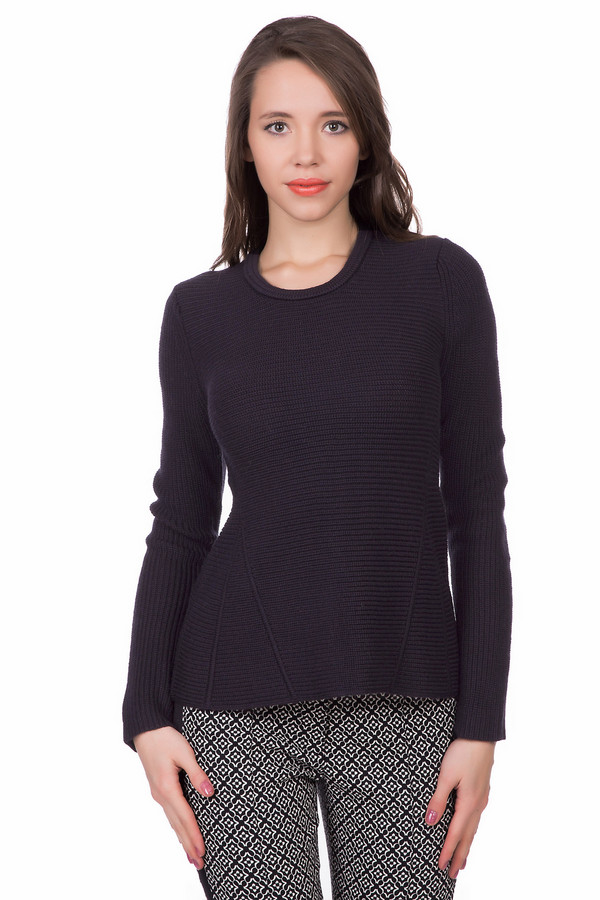 Пуловер PezzoПуловеры<br>Деловой женский пуловер Pezzo черного цвета. Изготовлен из шерсти и акрила. Подходит для носки в весенний и осенний сезоны. Модель с длинным рукавом. Спереди и сзади изделия треугольные вставки. Воротник утолщенный, круглый. Черный пуловер Pezzo придает облику деловой и в тоже время - женственный и милый вид.<br><br>Размер RU: 44<br>Пол: Женский<br>Возраст: Взрослый<br>Материал: шерсть 50%, акрил 50%<br>Цвет: Чёрный