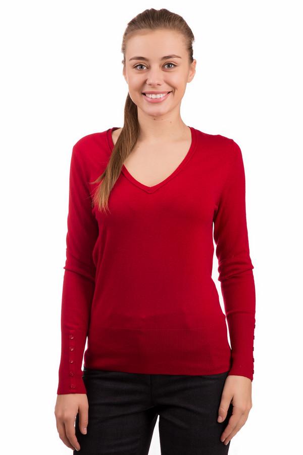 Пуловер PezzoПуловеры<br>Яркий женский пуловер Pezzo красного цвета. Изделие состоит из вискозы, нейлона и шерсти. Отлично подойдет для весеннего и осеннего сезонов. Яркий пуловер облегает тело, а округлое декольте привлекательно оголяет шею и уголки ключиц. Модель дополнена рядом из пяти красных пуговиц на манжетах.<br><br>Размер RU: 46<br>Пол: Женский<br>Возраст: Взрослый<br>Материал: вискоза 46%, шерсть 19%, нейлон 35%<br>Цвет: Красный