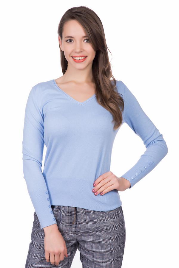 Пуловер PezzoПуловеры<br>Женственный женский пуловер Pezzo нежно-голубого цвета. Он изготовлен из вискозы, нейлона, шерсти. Наиболее подходящее время для носки - весенний и осенний сезоны. Пуловер дополнен рядом пуговиц на манжетах. Округлое декольте подчеркивает утонченность шеи. Сочетается с брюками, юбками, джинсами, пиджаками и многим другим.<br><br>Размер RU: 46<br>Пол: Женский<br>Возраст: Взрослый<br>Материал: вискоза 46%, шерсть 19%, нейлон 35%<br>Цвет: Голубой