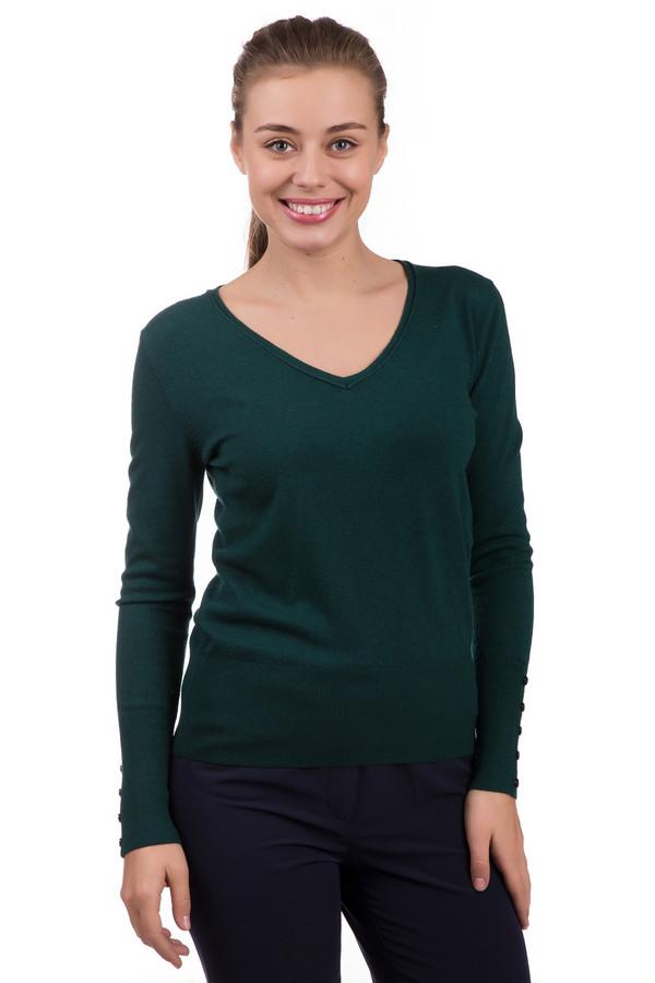 Пуловер PezzoПуловеры<br>Оригинальный женский пуловер Pezzo темно-зеленого цвета. Изделие изготовлено из вискозы, шерсти, нейлона. Является демисезонным. Необычная модель подойдет для любителей оригинальных цветовых решений. Дополнена декоративным пуговичным рядом на манжетах. Сочетается с подавляющим большинством одежды.<br><br>Размер RU: 44<br>Пол: Женский<br>Возраст: Взрослый<br>Материал: вискоза 46%, шерсть 19%, нейлон 35%<br>Цвет: Зелёный
