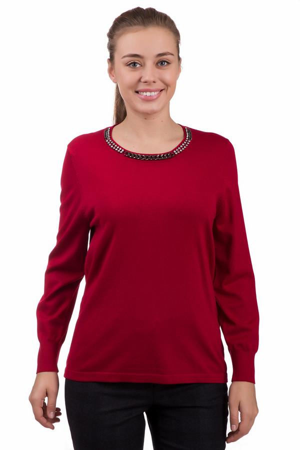 Пуловер Rabe collectionПуловеры<br>Нарядный женский пуловер Rabe collection красного цвета. Выполнен из вискозы и полиамида. Больше всего подходит для демисезонной носки. Изделие имеет длинные рукава, присобранные на запястьях широкой резинкой. Горловина декорирована цепочками различной ширины и двумя рядами страз. Хорошо сочетается с юбками, брючными костюмами, джинсами.<br><br>Размер RU: 46<br>Пол: Женский<br>Возраст: Взрослый<br>Материал: вискоза 70%, полиамид 30%<br>Цвет: Красный