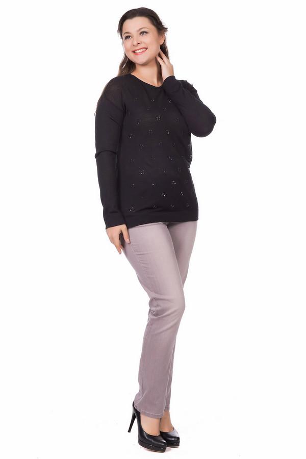 Пуловер Rabe collectionПуловеры<br>Изящный женский пуловер Rabe collection черного цвета. Изготовлен из материи, состоящей из шерсти и полиакрила. Лучше всего носить его в демисезон. У модели длинные рукава, она присобрана на талии. Спереди изделие украшено кругами из ромбовидных черных стразов. Создает праздничный вид у повседневного наряда.<br><br>Размер RU: 48<br>Пол: Женский<br>Возраст: Взрослый<br>Материал: шерсть 50%, полиакрил 50%<br>Цвет: Чёрный