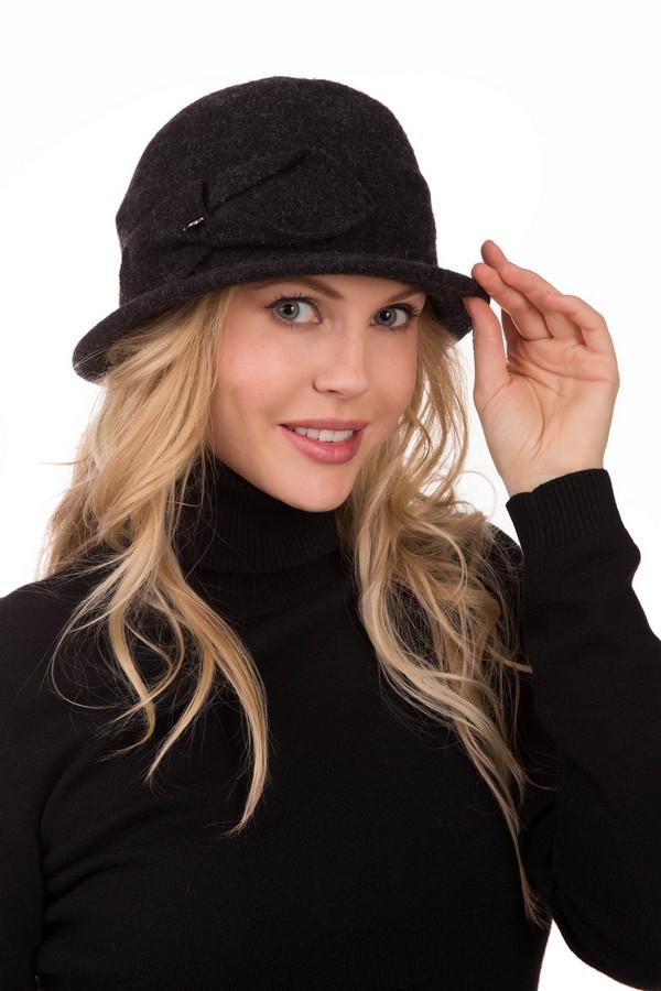 Шляпа SeebergerШляпы<br>Темно-серая шляпка Seeberger с изящным хлястиком на боку – прелестный и такой нужный аксессуар для женственной и эффектной девушки. Вы оцените эту чудесную модель по достоинству. Неширокие поля шляпки и декоративная деталь справа модели придают ей очарования и оригинальности. Такая демисезонная шляпка из серой шерсти подойдет к пальто приталенного силуэта.<br><br>Размер RU: один размер<br>Пол: Женский<br>Возраст: Взрослый<br>Материал: шерсть 100%<br>Цвет: Серый