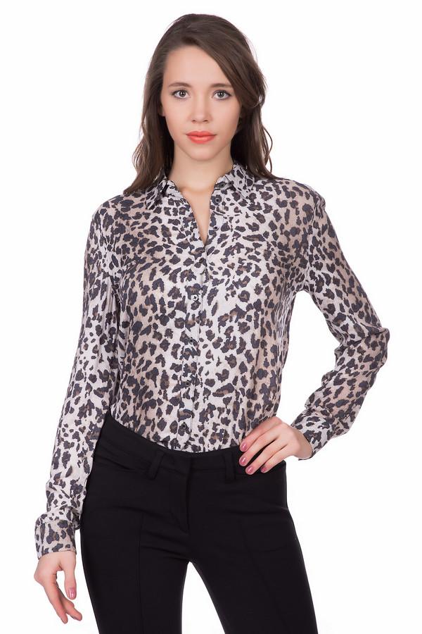 Блузa OuiБлузы<br>Блузa Oui леопардовой расцветки – женственная и элегантная модель. Блуза с длинным рукавом подойдет для любого времени года. По своему силуэту и отсутствию она очень минималистична, основной акцент – расцветка. Легко комбинируется с брюками, юбками, джинами. Будет отличным дополнением элегантного делового ансамбля.<br><br>Размер RU: 48<br>Пол: Женский<br>Возраст: Взрослый<br>Материал: вискоза 100%<br>Цвет: Разноцветный