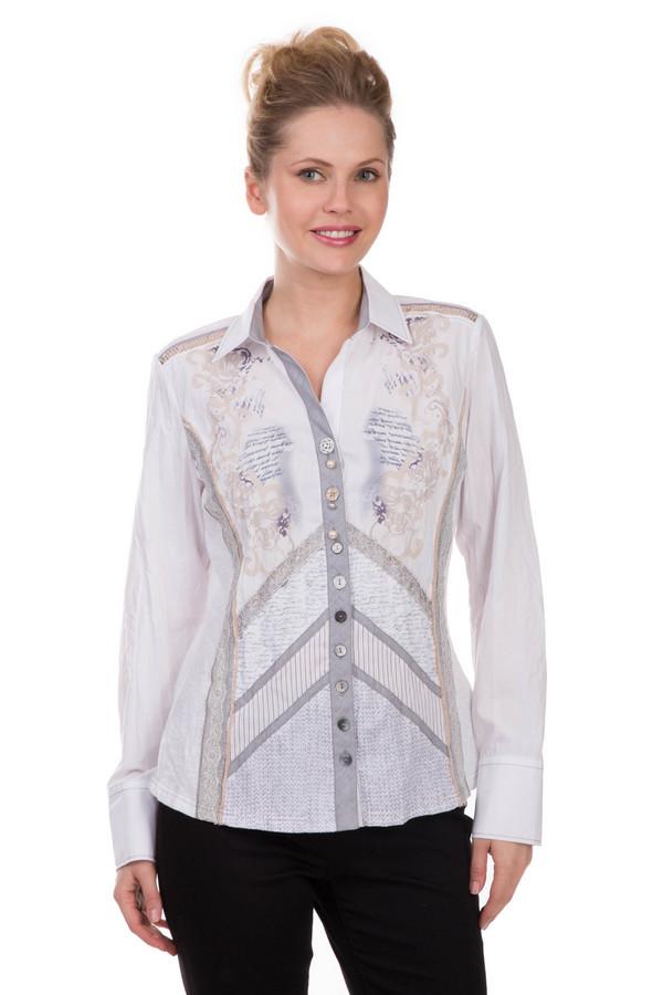 Блузa SE StenauБлузы<br>Блузa SE Stenau – модель очень нежная и оригинальная. Блуза из хлопка и полиэстера выполнена в пастельной гамме: на ней гармонично сочетаются белый, серый, бежевый, синий и фиолетовый цвета. Отложной воротничок, ажурная тесьма, сочетание разных тканей, разные пуговицы и декоративные бусины – характерные черты этой прелестной вещи. Она хорошо комбинируется с джинсами, брюками и юбками различных моделей.<br><br>Размер RU: 52<br>Пол: Женский<br>Возраст: Взрослый<br>Материал: хлопок 35%, полиэстер 65%<br>Цвет: Разноцветный