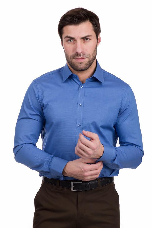 Рубашка с длинным рукавом VentiДлинный рукав<br>Мужская рубашка с длинным рукавом Venti. Красивый лазурно-синий цвет этого изделия не оставит вас равнодушными. Качественная ткань в мелкую клетку приятна к телу, так как это - 100% хлопок. Модель с длинным рукавом универсальна ля любого сезона. Такая рубашка отлично выглядит и с костюмом, и с джинсами.<br><br>Размер RU: 44<br>Пол: Мужской<br>Возраст: Взрослый<br>Материал: хлопок 100%<br>Цвет: Синий