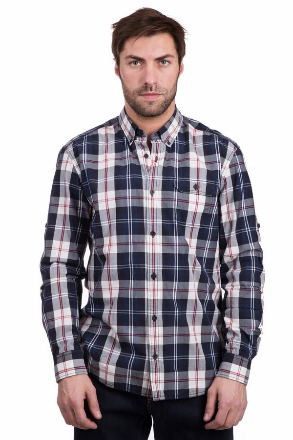 Рубашка с длинным рукавом s.OliverДлинный рукав<br>Рубашка с длинным рукавом s.Oliver в крупную клетку. Модель хороша для различной погоды. Черный, белый, бордовый и синий цвета отлично освежат любой образ. Накладной нагрудный карман – полезная и функциональная деталь этой вещи. Отложной воротник мужской сорочки также снабжен пуговицами. Такая рубашка из хлопка отменно комбинируется с другой одеждой.<br><br>Размер RU: 48-50<br>Пол: Мужской<br>Возраст: Взрослый<br>Материал: хлопок 100%<br>Цвет: Разноцветный