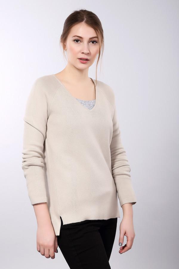 женский пуловер comma, бежевый
