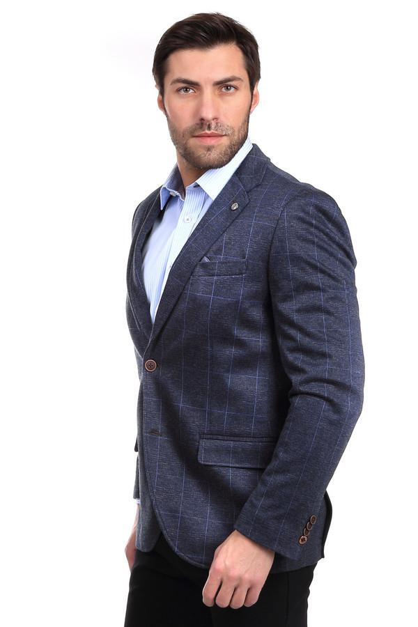 Пиджак CalamarПиджаки<br>Пиджак Calamar мужской в клетку. Элегантная вещь для настоящих модников. Такую вещь можно надеть в самых разных ситуациях. Изысканная синяя клетка на сером фоне, коричневые пуговицы, оригинальная деталь на лацкане пиджака. Состав: полиэстер, rayon-ткань. Такой пиджак оптимально носить в сочетании с другими вещами в стиле смарт-кэжуал.<br><br>Размер RU: 56<br>Пол: Мужской<br>Возраст: Взрослый<br>Материал: полиэстер 80%, район 20%<br>Цвет: Разноцветный