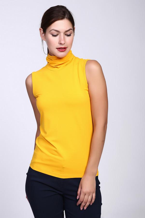 Топ PezzoТопы<br>Топ Pezzo желтый. Желто-горячий цвет – это лето и солнце. В одежде такого оттенка чудесное настроение вам обеспечено. Эта дивная удлиненная модель снабжена воротником-стойкой. Вискоза и эластан в ее составе – то, что нужно в летнее время года. Модель очень выигрышна – она подчеркнет прелести вашей фигуры и продемонстрирует руки.<br><br>Размер RU: 46<br>Пол: Женский<br>Возраст: Взрослый<br>Материал: эластан 5%, вискоза 95%<br>Цвет: Жёлтый