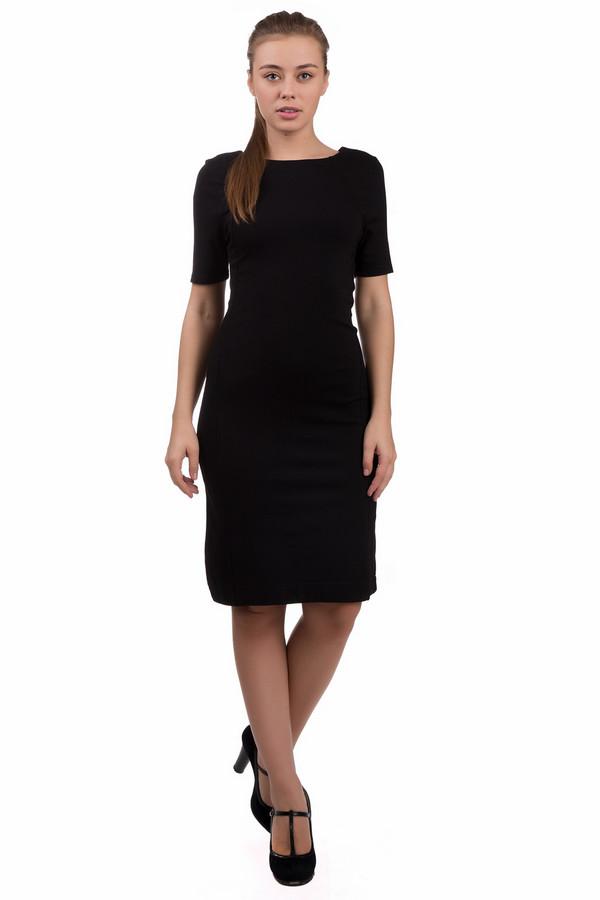 Платье PezzoПлатья<br>Платье Pezzo черного цвета. Вещи в темном цвете стройнят, и это их неоспоримое достоинство. Данная модель интересного кроя и приталенного силуэта – отличный выбор для работы или для визита в гости. Состав ткани: полиамид, эластан, район. Вещь демисезонная, но короткий рукав будет уместнее для более теплой погоды.<br><br>Размер RU: 46<br>Пол: Женский<br>Возраст: Взрослый<br>Материал: эластан 5%, полиамид 32%, район 63%<br>Цвет: Чёрный