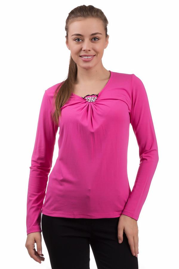 Лонгслив PezzoЛонгсливы<br>Лонгслив Pezzo ярко-розового цвета. Стильный и эффектный наряд. В нем вы будете ловить восхищенные взгляды окружающих. Мягкие складки и украшение на горловине – изюминка данной модели. Состав ткани: вискоза плюс эластан. Носить такую футболку с длинным рукавом - одно удовольствие. Эта демисезонная модель чудесно смотрится с брюками, юбками и джинсами разного кроя.<br><br>Размер RU: 52<br>Пол: Женский<br>Возраст: Взрослый<br>Материал: эластан 5%, вискоза 95%<br>Цвет: Розовый