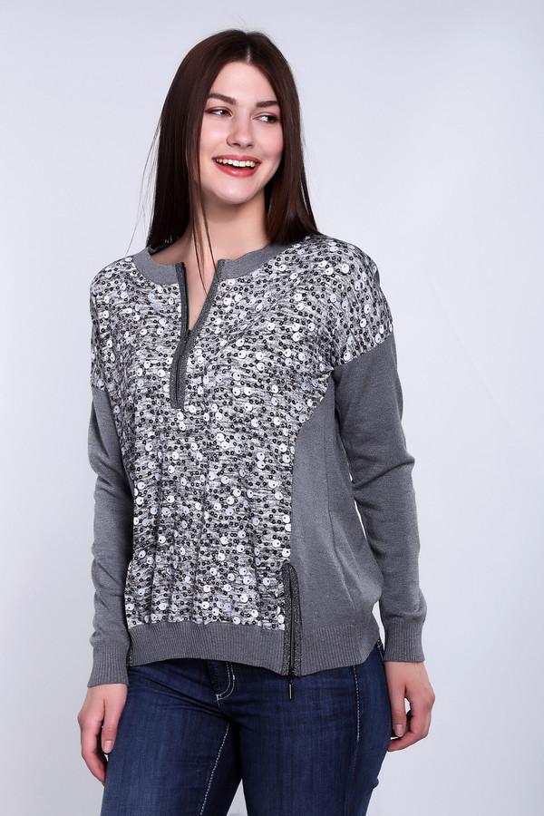 Пуловер Eugen KleinПуловеры<br>Удивительный женский пуловер Eugen Klein серого цвета. Материал изделия содержит эластан, полиакрил, модал. Пуловер наиболее комфортным будет в демисезон, для погоды которого подходит идеально. Модель с длинными рукавами, спереди украшена вставкой из более светлой ткани, декорированной пайетками, которая визуально стройнит фигуру.<br><br>Размер RU: 44<br>Пол: Женский<br>Возраст: Взрослый<br>Материал: эластан 14%, полиакрил 40%, модал 46%<br>Цвет: Серый