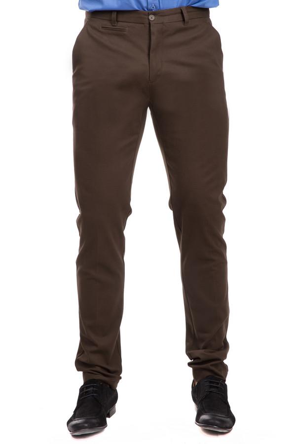 Брюки Just ValeriБрюки<br>Мужские брюки Just Valeri черного цвета. Эластан в составе делает их прочными, а хлопок – приятными наощупь и при ношении. Демисезонный вариант. Модель заужена книзу. Изделие дополнено удобными петельками, куда вы можете приспособить любой ремень. В таких брюках можно чувствовать себя комфортно как в офисе, так и на дружеской вечеринке.<br><br>Размер RU: 56<br>Пол: Мужской<br>Возраст: Взрослый<br>Материал: эластан 3%, хлопок 97%<br>Цвет: Коричневый