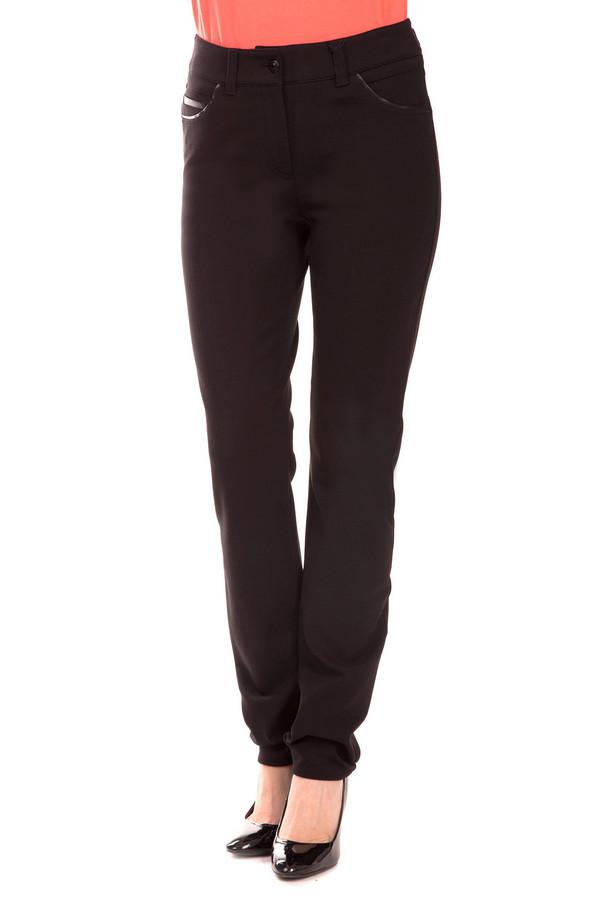 Брюки Gerry WeberБрюки<br>Модные женские брюки черного цвета Gerry Weber. В составе модели – вискоза, эластан, полиамид. Стратегически необходимы каждой красотке в капризный демисезон. Изделие дополнено интересными манжетами на щиколотках. Подчеркнет достоинства фигуры и при необходимости скроет недостатки. Вносит в образ нотку необычности, украшает повседневность.<br><br>Размер RU: 44<br>Пол: Женский<br>Возраст: Взрослый<br>Материал: вискоза 70%, эластан 5%, полиамид 25%<br>Цвет: Чёрный