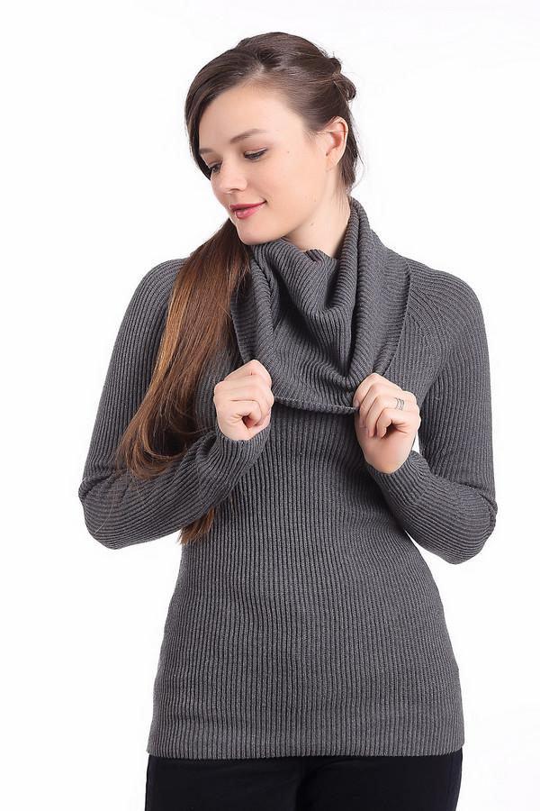 Пуловер PezzoПуловеры<br>Темно-серый теплый пуловер Pezzo приталенного кроя. Изделие дополнено: объемным воротником-хомут и длинными рукавами. Пуловер выполнен из натурального высококачественного материала.<br><br>Размер RU: 44<br>Пол: Женский<br>Возраст: Взрослый<br>Материал: хлопок 100%<br>Цвет: Серый