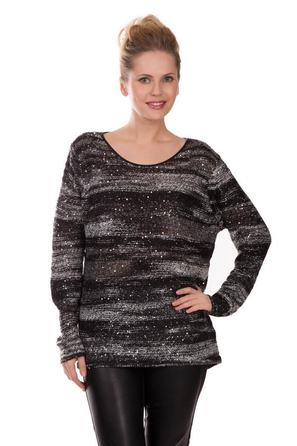 Пуловер Gerry WeberПуловеры<br>Черный с серебристым пуловер блестяще смотрится на любой фигуре. В состав материала входит полиэстер, хлопок, полиамид, полиакрил. Изделие дополнено яркими переливающимися блестками, способными создать праздничное настроение даже в будни. Вырез «мыс» и длинные рукава придают изделию достаточную скромность и строгость, чтобы надевать его на деловые мероприятия. Впрочем, сочетая его с яркими аксессуарами вы смело можете идти в нем на какой-нибудь корпоратив.<br><br>Размер RU: 46<br>Пол: Женский<br>Возраст: Взрослый<br>Материал: полиэстер 45%, хлопок 9%, полиамид 4%, полиакрил 42%, вискоза 100%<br>Цвет: Разноцветный