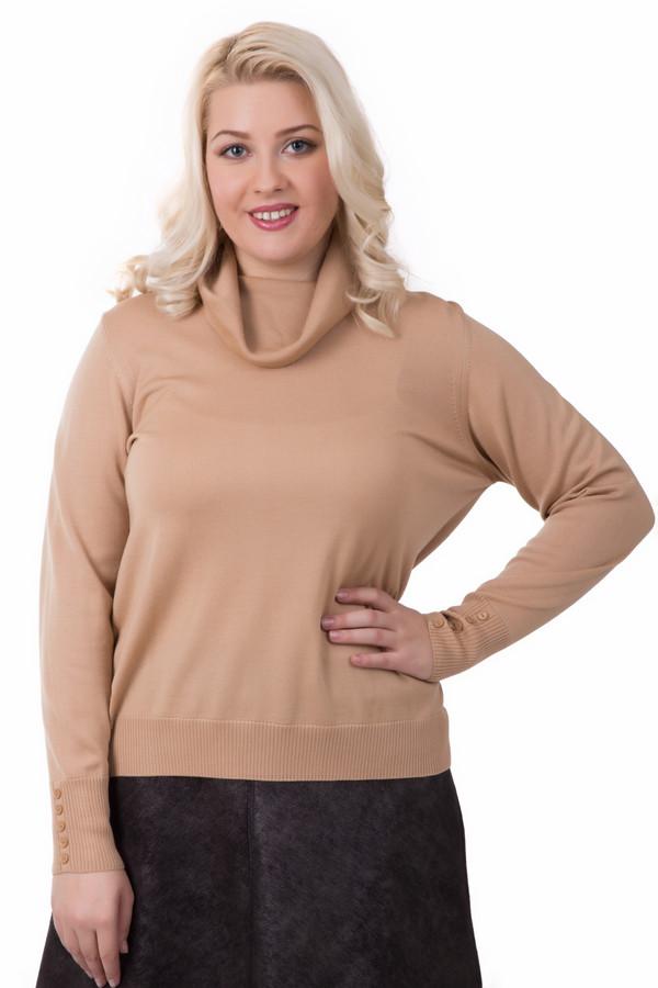 Пуловер Rabe collectionПуловеры<br>Пуловер Rabe collection бежевого цвета. В таком изделии с небольшим воротником-хомутом внимание вам обеспечено. Украшенные пуговицами манжеты – еще одна изюминка данной модели. Состав ткани: 100%-ная шерсть. Отлично комбинируется с брюками, юбками, джинсами различного кроя.<br><br>Размер RU: 48<br>Пол: Женский<br>Возраст: Взрослый<br>Материал: шерсть 100%<br>Цвет: Бежевый
