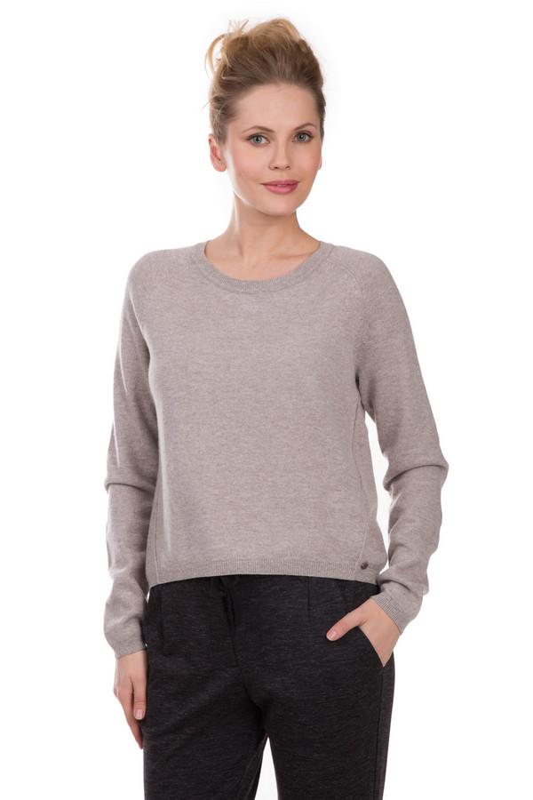 Пуловер TaifunПуловеры<br>Пуловер Taifun бежевого цвета. Такая вещь укороченного фасона будет отлично смотреться в самых различных ансамблях. Такой пуловер можно сочетать с брюками, юбками и джинсами с обычной посадкой или завышенной талией. Состав ткани: шерсть, вискоза, полиамид, кашемир. Превосходно комбинируется с одеждой разных стилей и расцветок.<br><br>Размер RU: 52<br>Пол: Женский<br>Возраст: Взрослый<br>Материал: шерсть 25%, вискоза 35%, полиамид 38%, кашемир 2%<br>Цвет: Бежевый