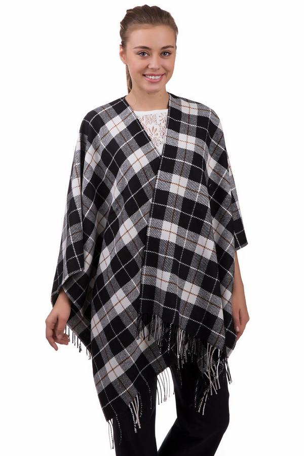 Шарф Gerry WeberШарфы<br>Клетчатый женский шарф Gerry Weber, сочетающий в себе черный, белый и коричневый цвета. В состав изделия входят эластан, полиэстер, полиакрил и шерсть. Весной и осенью он будет наиболее комфортным. Широкий шарф украшает бахрома. Покроен он в виде буквы П, сзади полностью закрывает спину.<br><br>Размер RU: один размер<br>Пол: Женский<br>Возраст: Взрослый<br>Материал: эластан 5%, полиэстер 25%, полиакрил 50%, шерсть 20%<br>Цвет: Разноцветный