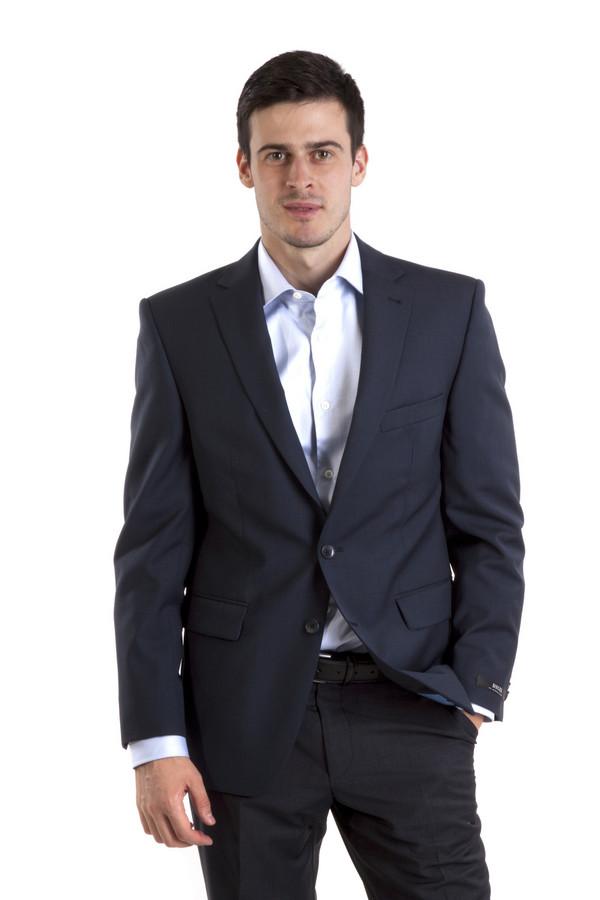 Пиджак DigelПиджаки<br>Темно-синий пиджак от бренда Digel прямого кроя выполнен из шерстяного материала. Изделие дополнено: отложным воротником с лацканами, четырьмя внутренними карманами и тремя внешними карманами. Центральная часть застегивается на пуговицы. Манжеты оформлены пуговицами. Пиджак идеально дополнит  брюки Digel .   Подкладка 100% вискоза.<br><br>Размер RU: 50<br>Пол: Мужской<br>Возраст: Взрослый<br>Материал: шерсть 100%<br>Цвет: Синий