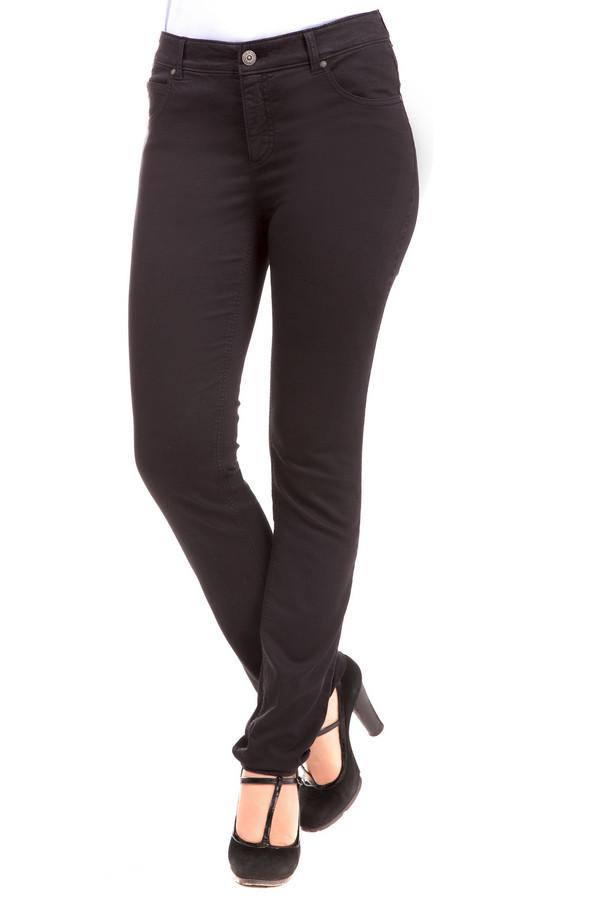 женские джинсы с низкой посадкой oui, черные