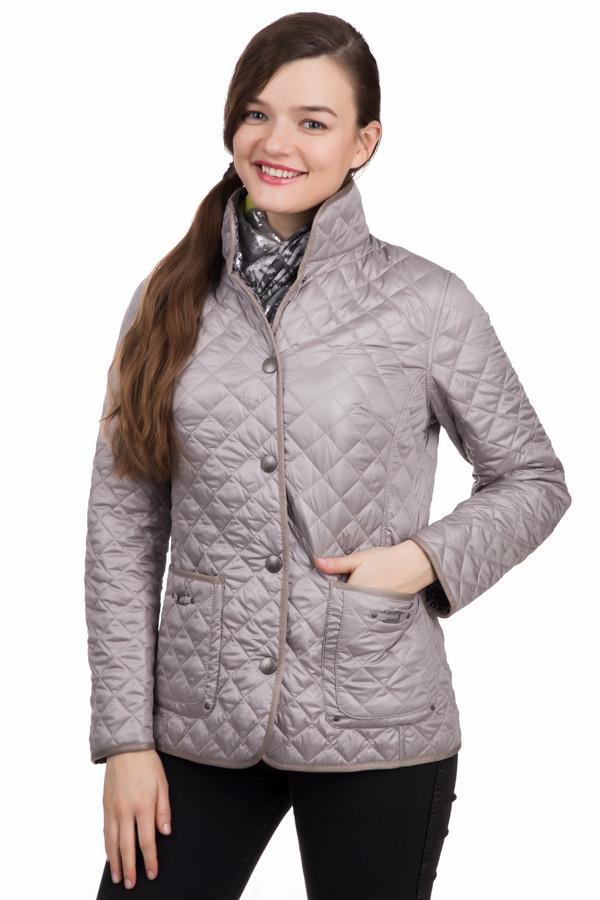 Куртка LebekКуртки<br>Женская куртка Lebek серого цвета не даст замерзнуть своей владелице в холодное время года, но также и не даст потеряться в толпе, благодаря оригинальному фасону. На 100% процентов состоит из полиэстера. Изделие дополнено застежкой-молнией и пуговками, а также интересной ромбовидной прострочкой. Сочетается с любыми брюками.<br><br>Размер RU: 44<br>Пол: Женский<br>Возраст: Взрослый<br>Материал: полиэстер 100%, Состав_подкладка полиэстер 100%<br>Цвет: Чёрный