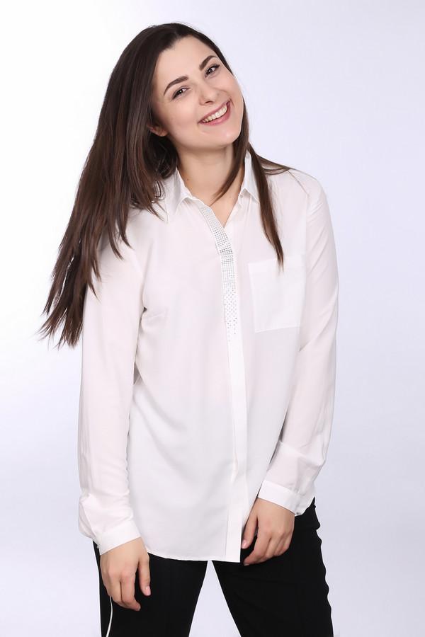Блузa TaifunБлузы<br>Нужно выглядеть официально, но скучную белую блузу надевать не хочется? Присмотритесь к безупречной блузе от Taifun. Строгие крой и ворот, вискоза и полиэстер в составе, возможность носить как навыпуск, так и заправленной в юбку или брюки – комар носа не подточит! Но если присмотреться, вы заметите, что изделие дополняют переливающиеся стразы вдоль застежки. Блистайте даже в офисе. Демисезонный вариант.<br><br>Размер RU: 44<br>Пол: Женский<br>Возраст: Взрослый<br>Материал: вискоза 71%, полиэстер 29%<br>Цвет: Серебристый
