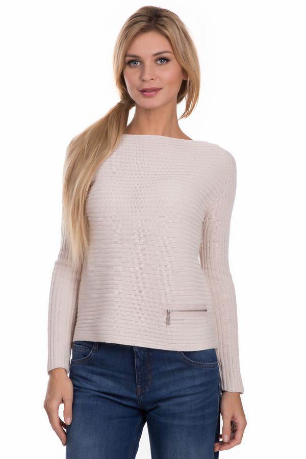 Пуловер MonariПуловеры<br>Элегантный пуловер Monari светло-розового цвета – для любительниц простых, но стильных вещей. В своем составе содержит сочетание шерсти и полиакрила. Полуспортивный вариант. Скрадывает недостатки силуэта, подчеркивая его лучшие стороны. Рассчитан на ношение в межсезонье. Оригинальный прямой вырез. Изделие дополнено карманчиком на серебристом замке.<br><br>Размер RU: 42<br>Пол: Женский<br>Возраст: Взрослый<br>Материал: шерсть 50%, полиакрил 50%<br>Цвет: Розовый