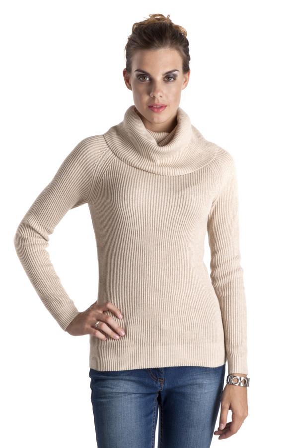 Пуловер PezzoПуловеры<br>Бежевый теплый пуловер Pezzo приталенного кроя. Изделие дополнено: объемным воротником-хомут и длинными рукавами. Пуловер выполнен из натурального высококачественного материала.<br><br>Размер RU: 48<br>Пол: Женский<br>Возраст: Взрослый<br>Материал: хлопок 100%<br>Цвет: Бежевый