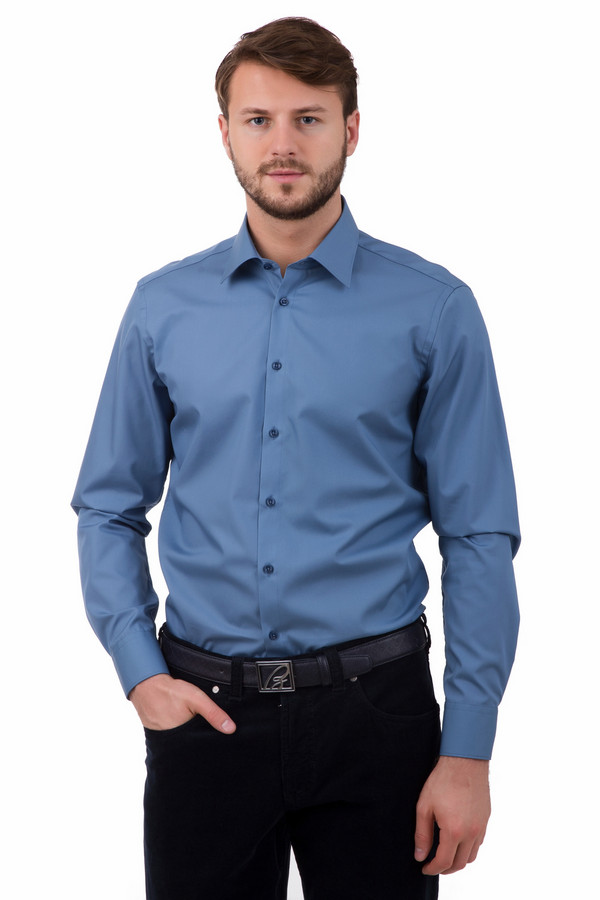 Рубашка с длинным рукавом VentiДлинный рукав<br>Рубашка с длинным рукавом Venti синяя мужская. Модель строгая и лаконичная. Носить ее – одно удовольствие. 100%-ный хлопок приятен и комфортен к телу. Такая модель великолепно сочетается с костюмом, различными брюками, джинсами, пиджаками. Предназначена для круглогодичной носки. Эта рубашка – желанная вещь в мужском гардеробе.<br><br>Размер RU: 44<br>Пол: Мужской<br>Возраст: Взрослый<br>Материал: хлопок 100%<br>Цвет: Синий