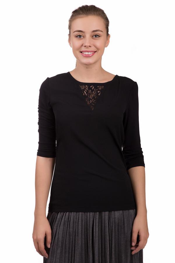 Блузa s.OliverБлузы<br>Блузa s.Oliver черная. Изысканная модель в духе минимализма. Хорошая посадка по фигуре обеспечена материалами: вискозой и эластаном. Изюминки этой вещи – ажурная вставка спереди и милая завязка сзади. Сочетается это блуза с классическими брюками и юбками, а также с джинсами и штанами более свободных стилей.<br><br>Размер RU: 48<br>Пол: Женский<br>Возраст: Взрослый<br>Материал: эластан 5%, вискоза 95%<br>Цвет: Чёрный